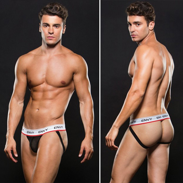 ENVY Low Rise Jock Black